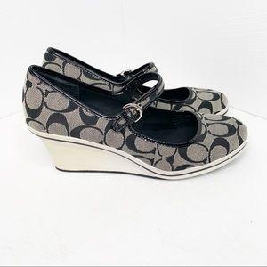 Coach Dannielyn Platform Wedge Mary Jane Shoes